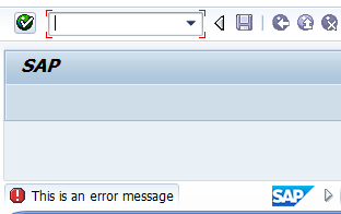 how to make an error message